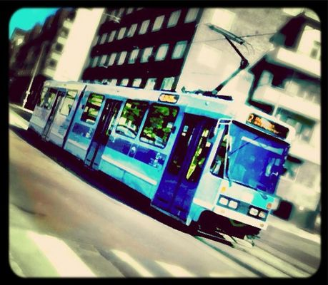 Tram in Oslo by Are Svensson