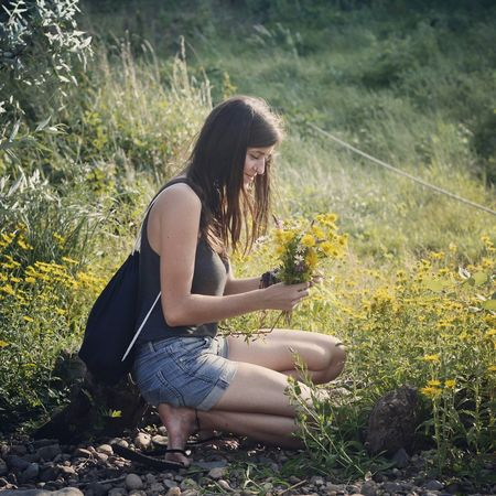 Flower & Power - MAinLoveWithFlowers enjoying the Powerful Natural Beauty of Flowers Portrait Portrait Of A Woman Portrait Of A Friend RePicture Love The Moment - 2015 EyeEm Awards - 09.08.2015