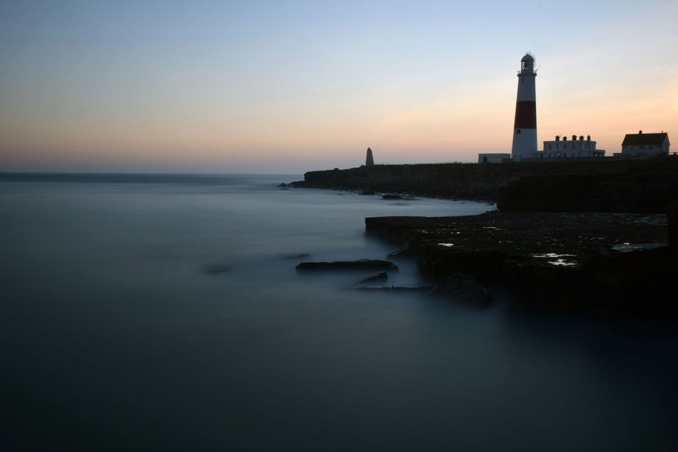 Portland Bill Lighthouse, Portland, UK Architecture Beach Beauty In Nature Day England English Coastline Horizon Over Water Lighthouse Long Exposure No People Outdoors Portland Sea Sky Sunset Travel Destinations Water