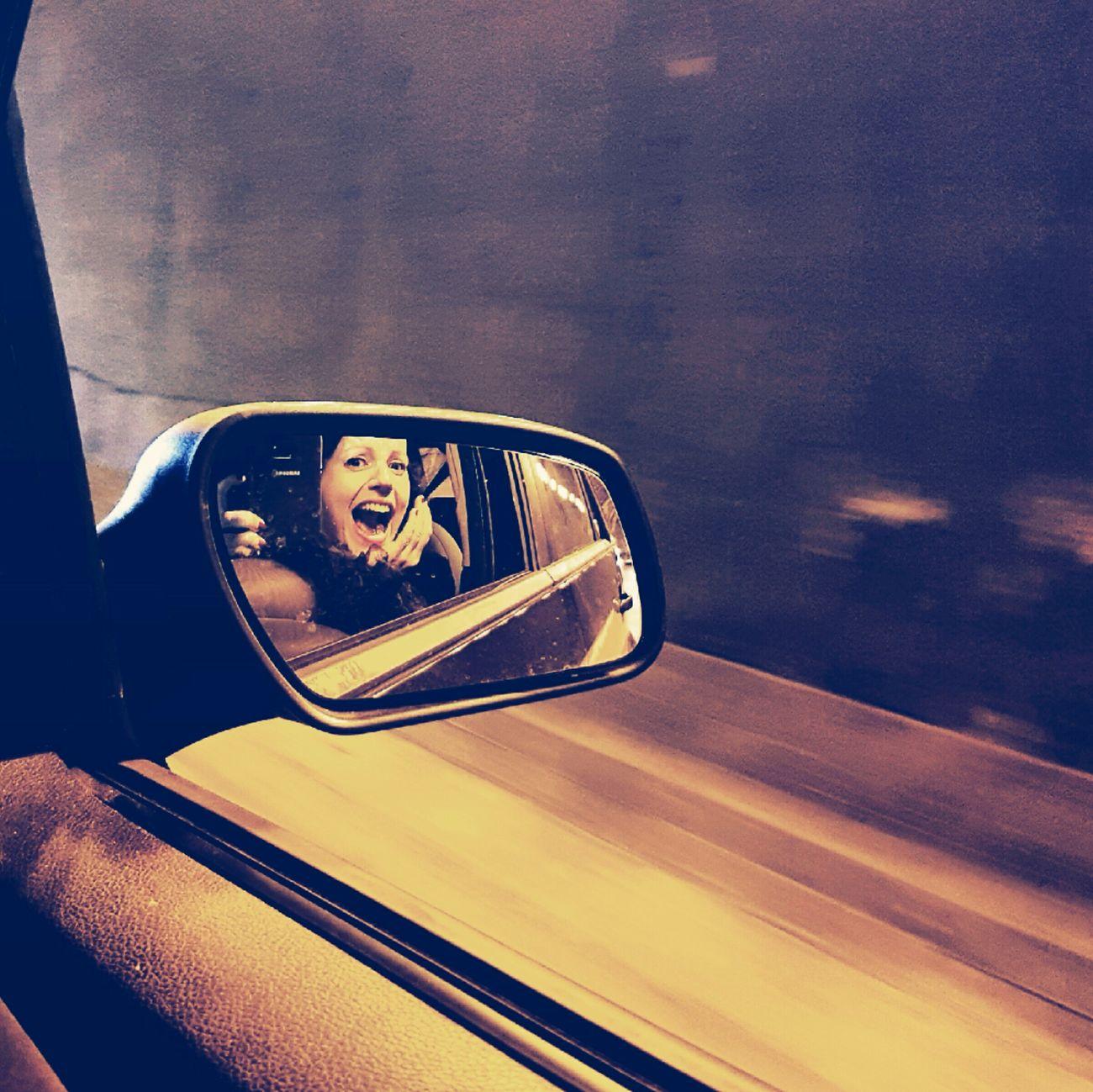 Aaaaahhhhh!!! Reflection Vehicle Mirror EyeEm Samsung Galaxy S7 Edge EyeEmNewHere My Fantastic World Journey Destination Retrato, Portrait, Profile Journey Into The Dark Journeyphotography Journey Is The Destination Live, Love, Laugh Life Is A Journey Life's Journey  Make Magic Happen EyeEm Best Shots EyeEmBestEdits Smiling New Life Love