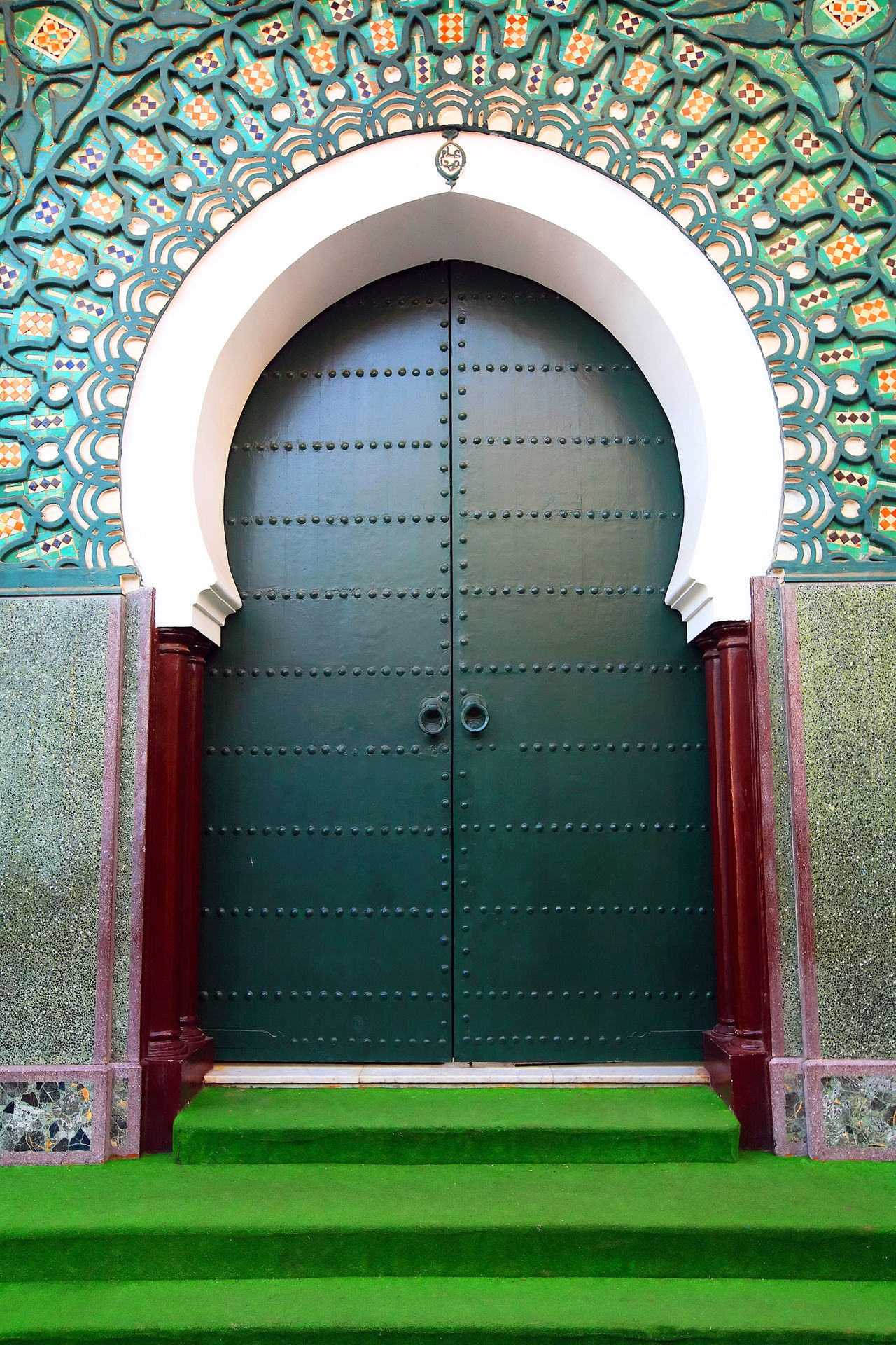 Africa Architecture Architecture Architecture_collection Built Structure Closed Day Door Doors Doorway Entrance Entry Green Color Morocco No People Outdoors Tangier Tangier City Travel Destinations Travel Photography