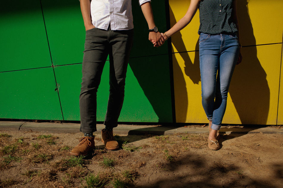 Beautiful stock photos of life, two people, low section, adults only, standing