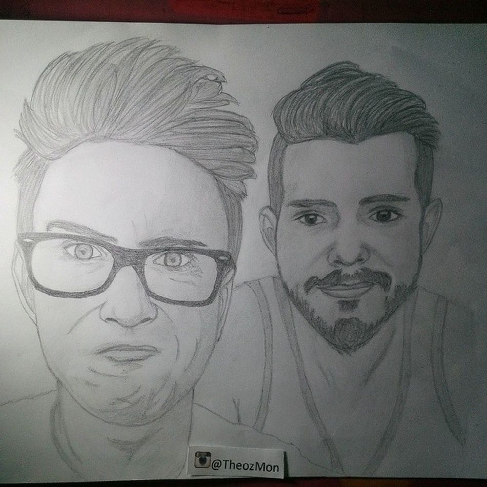 Day :34 Like most Europeans,I won't go to @vidcon this year...But one day I'm gonna meet you guys!Until that day enjoy my drawing,I hope you like it! ???? 100happydays Vidcon Youtuber Youtubers tyleroakley koreykuhl sketch drawning happy