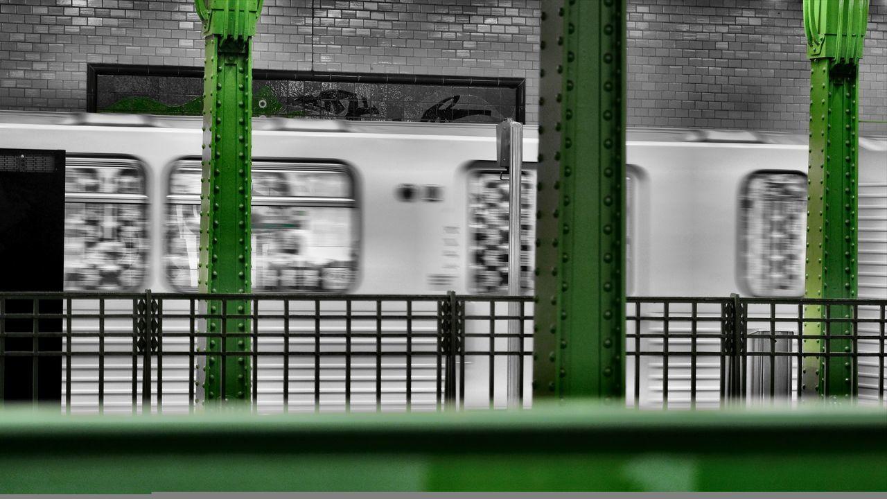 Architecture Cities At Night City Life Colourful Transportation U-Bahn U-Bahnhof Close-up Deutsche Oper Berlin Green Color Indutry Metal No People Rivets Steel Structure  BVG - Berliner Verkehrsgesellschaft EyeEm Ready