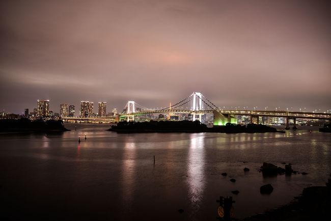 Cloud - Sky Commercial Dock Harbor Odiba Rainbow Brite Sea Transportation Water Waterfront Cities At Night Ultimate Japan
