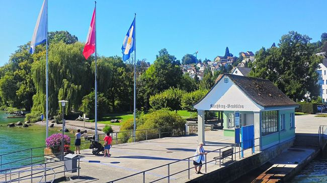 Schiffsteg Kilchberg Blue Clear Sky Day Flag Kilchberg National Flag Outdoors Schweiz Switzerland Tranquil Scene Zürich Zürichsee