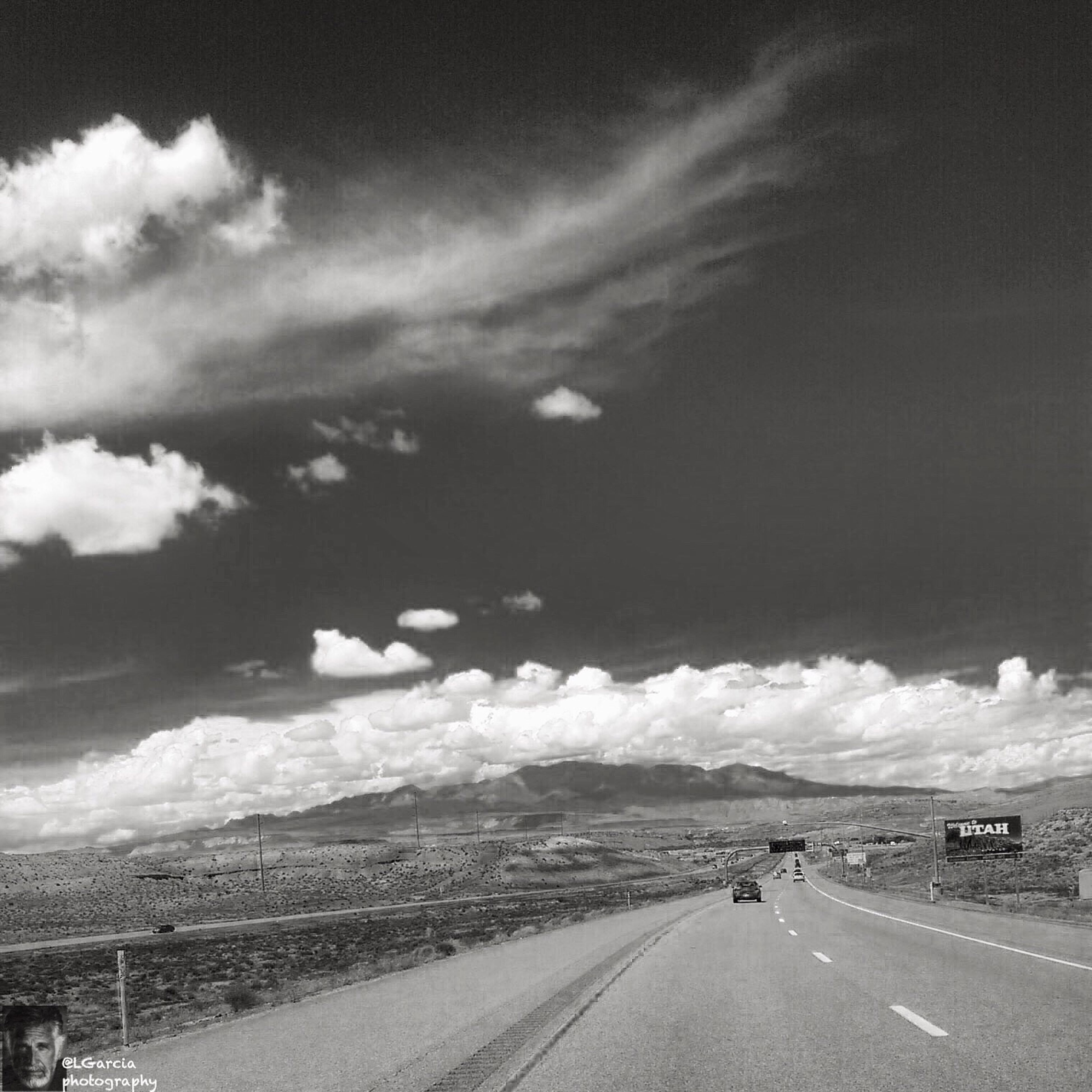 Utah 2015. LGarciaPhotography Iphone 6 Plus IPhone Monochrome Monochromatic EyeEm Best Shots - Black + White Black & White Blackandwhite Bnw Bnw_collection Bnwphotography Bnw_captures Bnw_friday_eyeemchallenge Light Clouds Mountains Nature Photography Enjoying The View Clouds And Sky Creative Light And Shadow Light And Shadow Mountain Utah Road Roadtrip