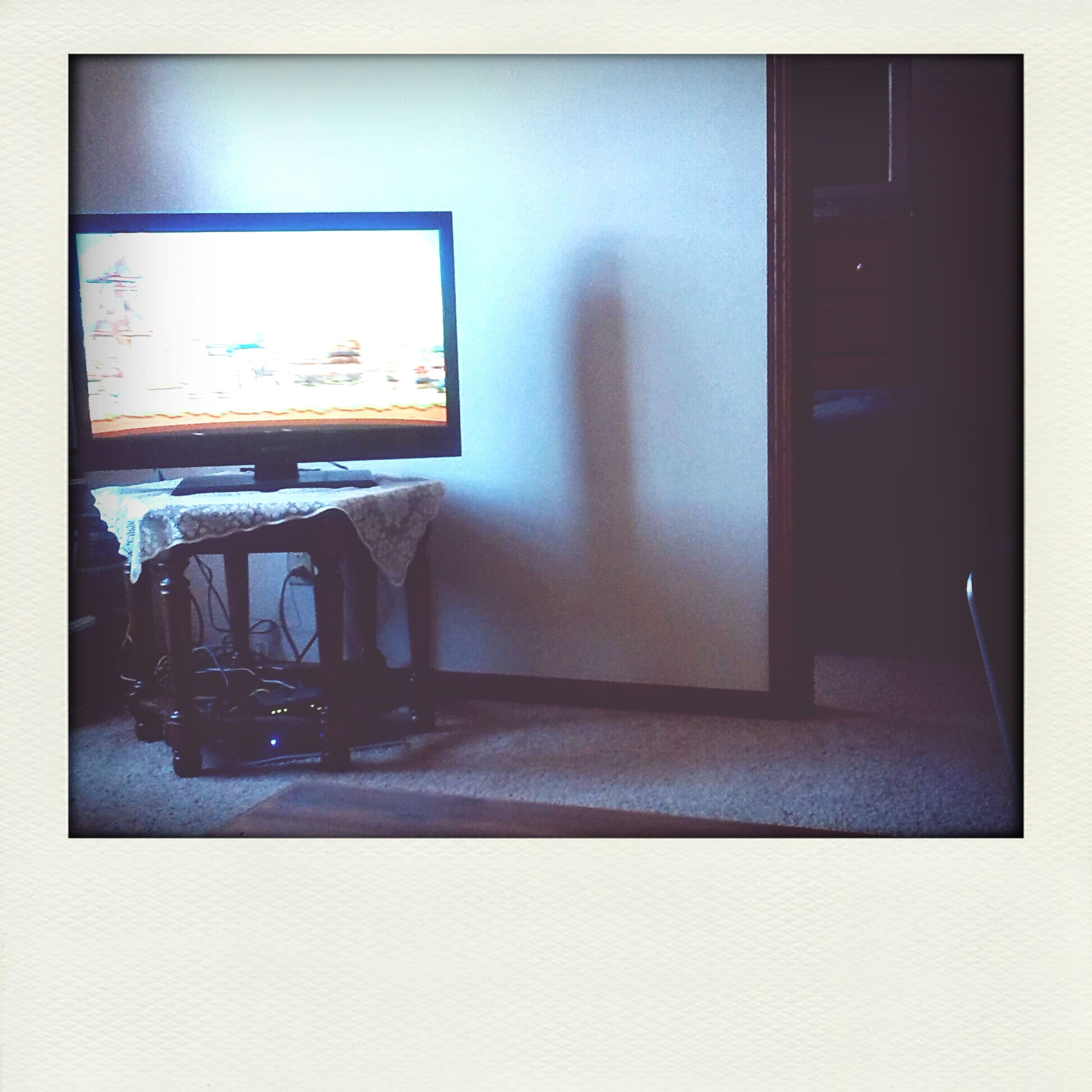 indoors, transfer print, auto post production filter, empty, communication, architecture, text, wall - building feature, built structure, door, absence, wall, no people, western script, window, home interior, illuminated, closed, copy space, technology