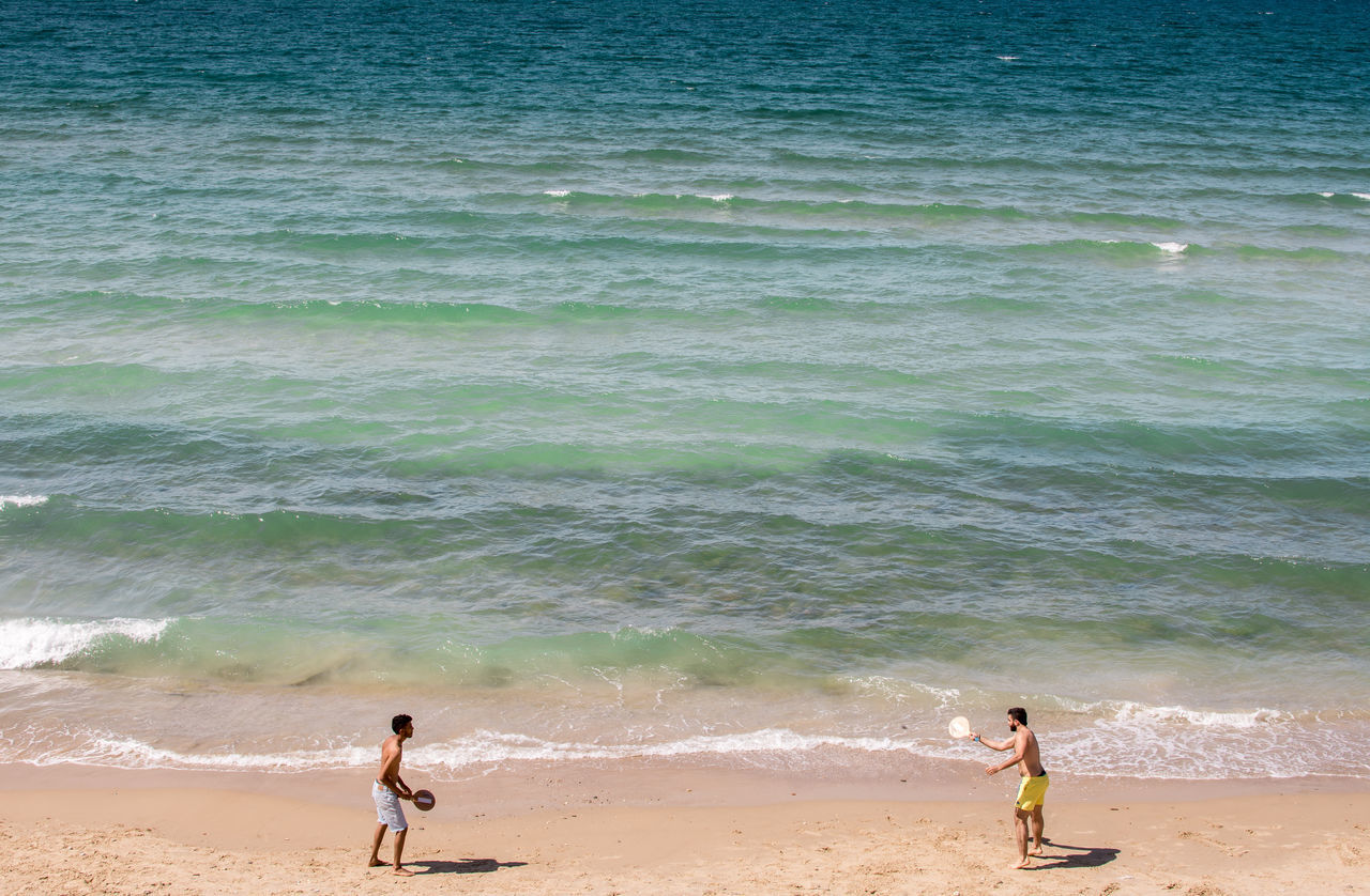 Beautiful stock photos of neujahr, beach, sea, real people, lifestyles