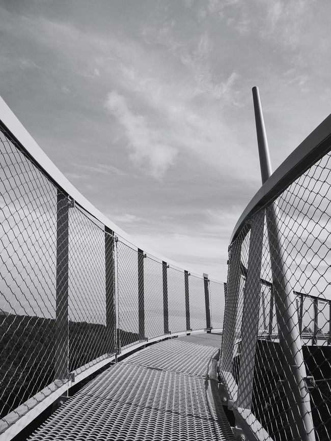 walk tall Fence Sky No People Cloud - Sky Day Outdoors Dramatic Angles Black & White Penang Hill Finding New Frontiers The Habitat
