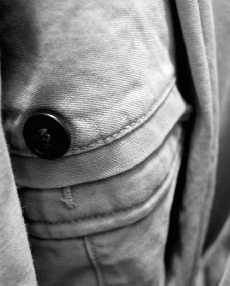 Butto on pants Black And White Button Button Hole Hanging On Hanger Indoors  Mens Pants Pants Pocket Work Pants