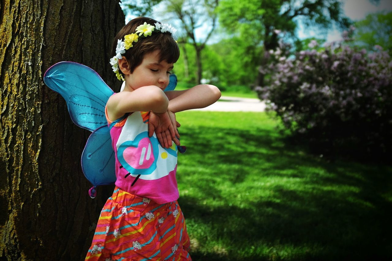 Beautiful stock photos of fairy,  4-5 Years,  Arms Raised,  Butterfly,  Childhood