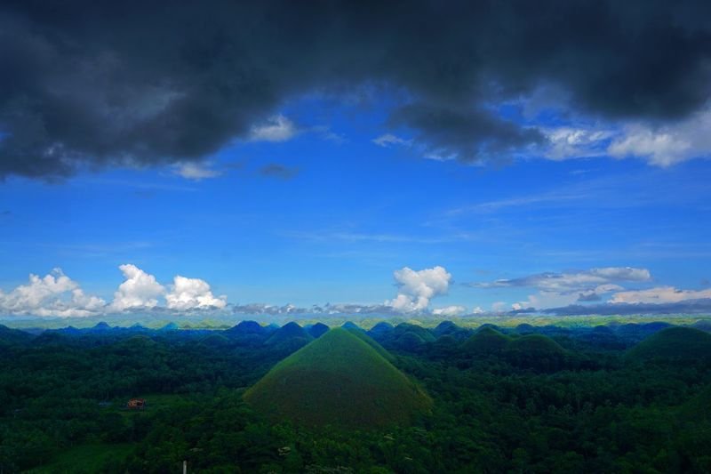 2016 Beauty In Nature Bohol Island Chocolate Hills Cloud - Sky Field Growth Hill Landscape Mountain Nature Outdoors Philippines Sky Tree チョコレートヒル フィリピン ボホール島