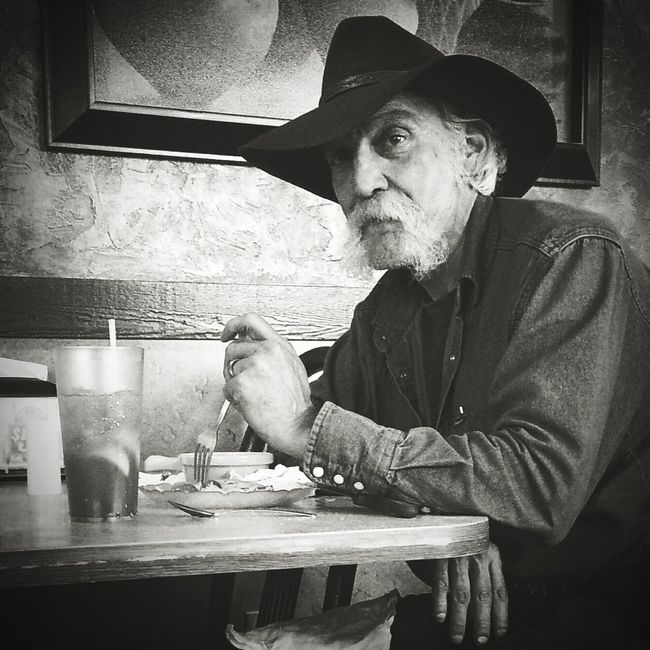 Sweet Tea & Cowboy My Country In A Photo Cowboy Mustache Faces Sweet Tea Eating Black And White Photography B&W Portrait