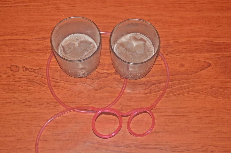Breaktime Chocolate Milkshake Glass Refreshment Silly Straw The OO Mission Wood Adhesive Tape