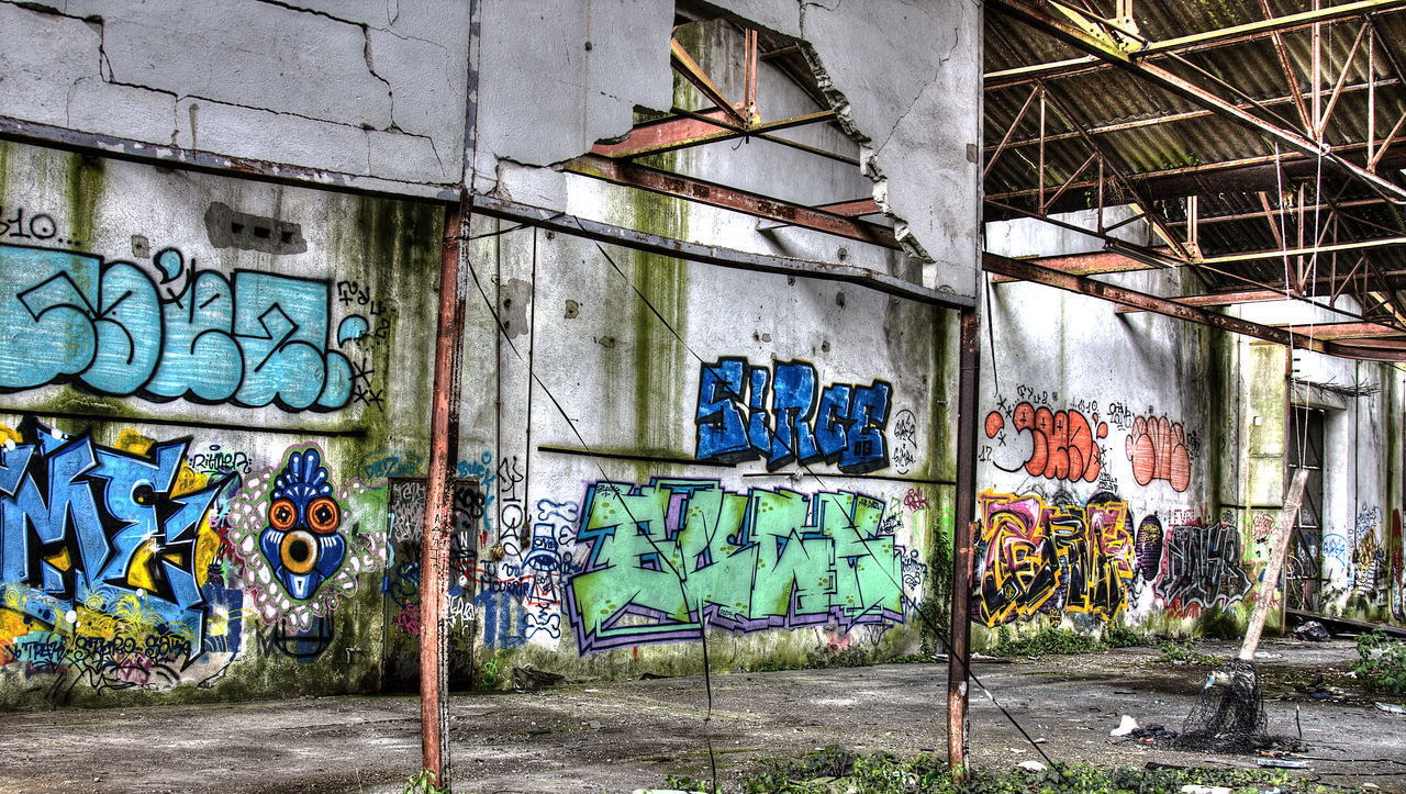 Abandoned Architecture Art And Craft Bretagne Building Exterior Built Structure Day Destruction Graffiti Lorient Multi Colored No People Outdoors Spray Paint Street Art