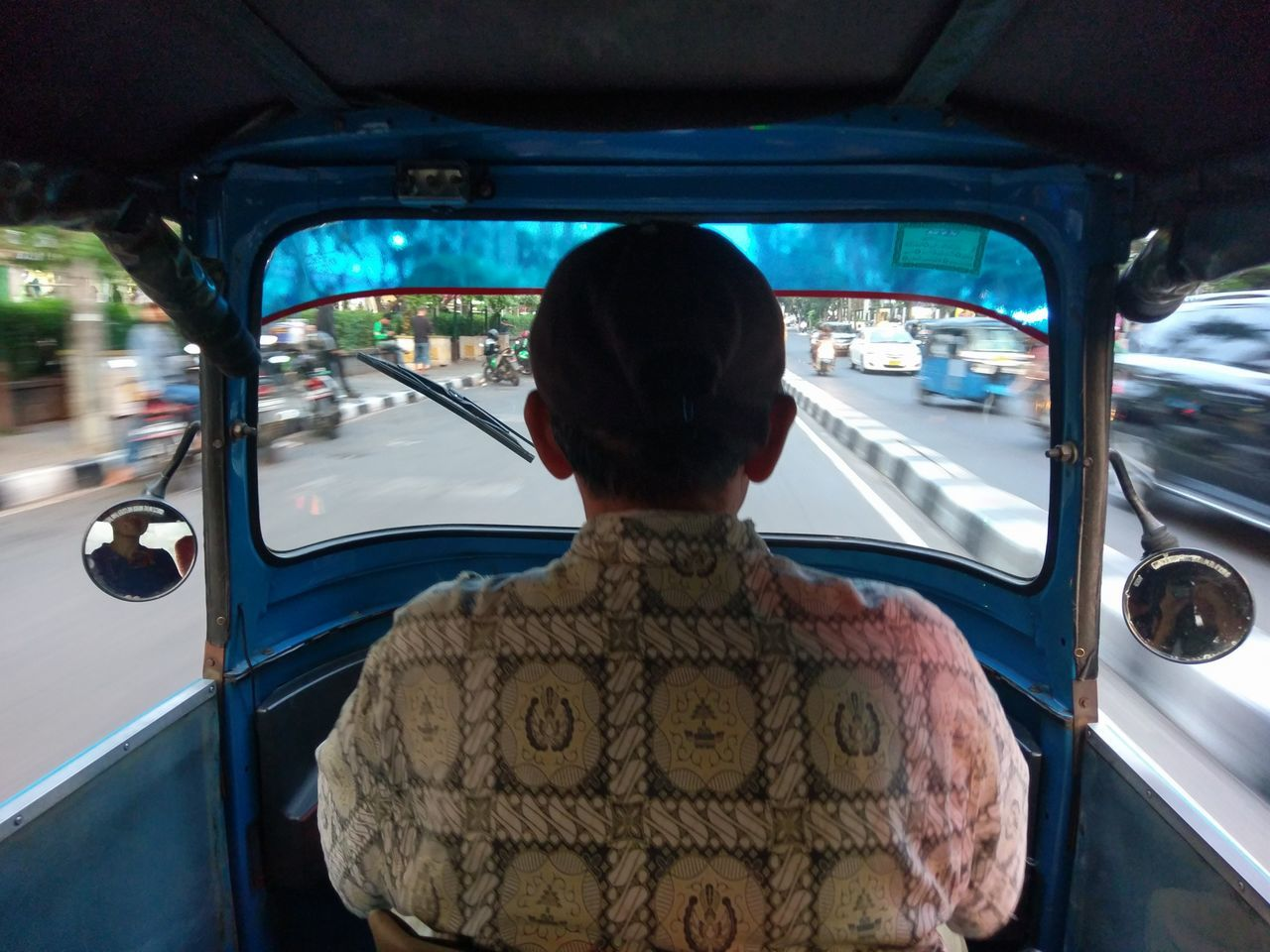 Bajaj ride Driving Man Land Vehicle Bajaj Ride Journey Outdoors Jakarta Indonesia Transportation