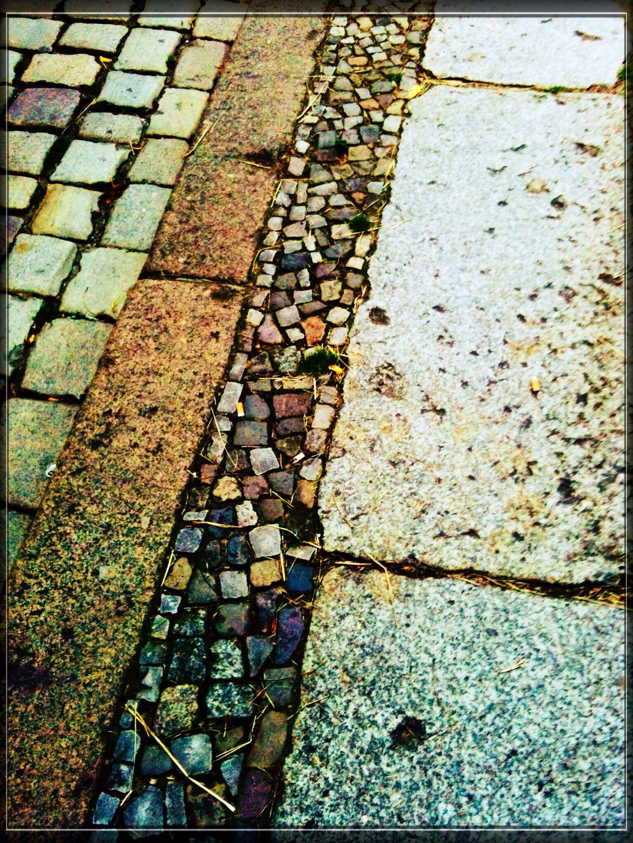 "What's Under My Feet? | Pflastersteine | Mosaic | @ Waisenstraße near the old-german Restaurant called >Zur Letzten Instanz<, which stands on the historical ""Alte Berliner Stadtmauer"", anno ...."