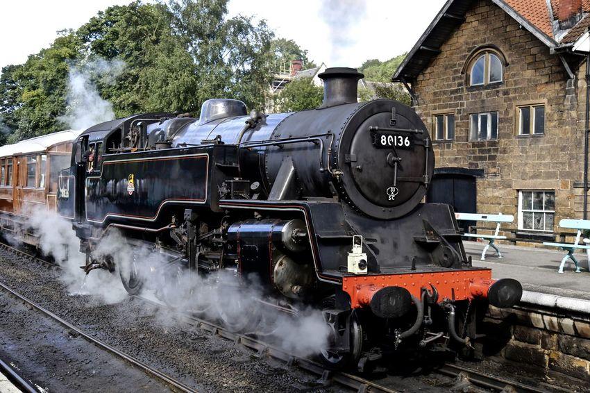 Steam Train - Grosmont, North Yorkshire. Locomotive Mode Of Transport Obsolete Old-fashioned Public Transportation Rail Transportation Railroad Track Steam Train The Past Train - Vehicle Transportation