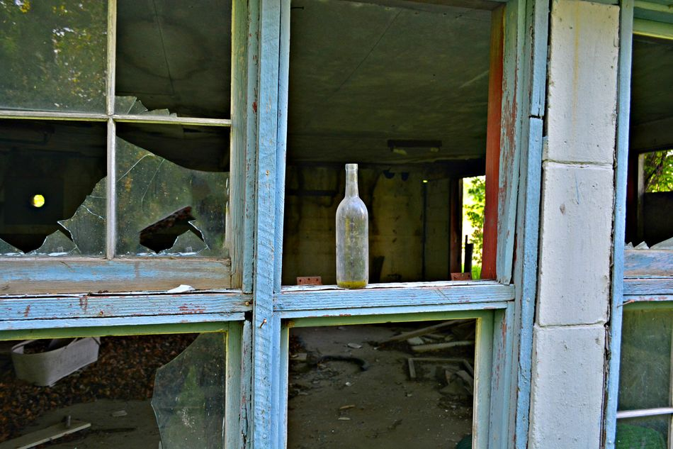 Empty Abandoned Backgrounds Blue Broken Glass Broken Window Built Structure Close-up Closed Day Deterioration Dirty Bottle Doorway Empty Bottle Full Frame Michigan No People No Window Old Old Bottle Open Run-down Window Window Frame Wine Bottle Wood - Material