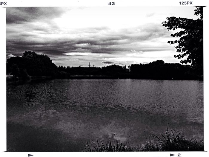 Monochrome Black & White Black And White Lake