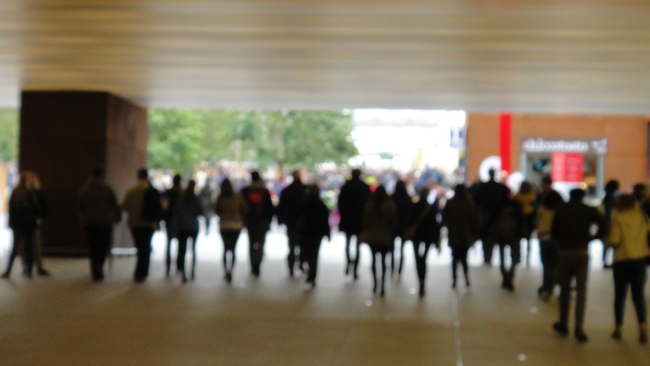 Blurred Motion Built Structure City Life Day Flooring Focus On Foreground Group Of People In A Row Indoors  Large Group Of People Lifestyles Men Person Selective Focus Standing Street Walking Showing Imperfection The Street Photographer - 2016 EyeEm Awards The Commute Need For Speed People In Transit going underground