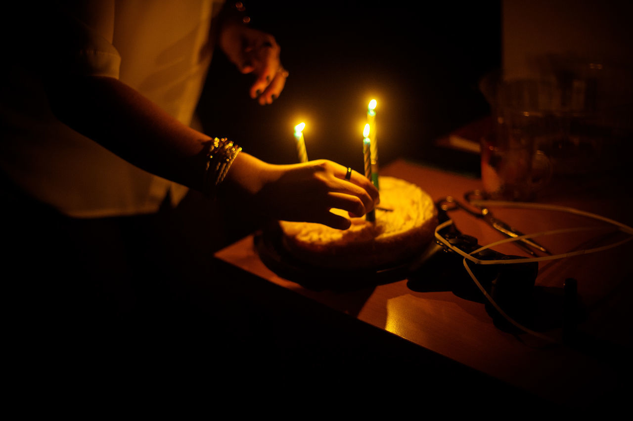 Human Hand People One Person Night Human Body Part Indoors  HappyBirthday Birthday Cake Light Atmospheric Mood