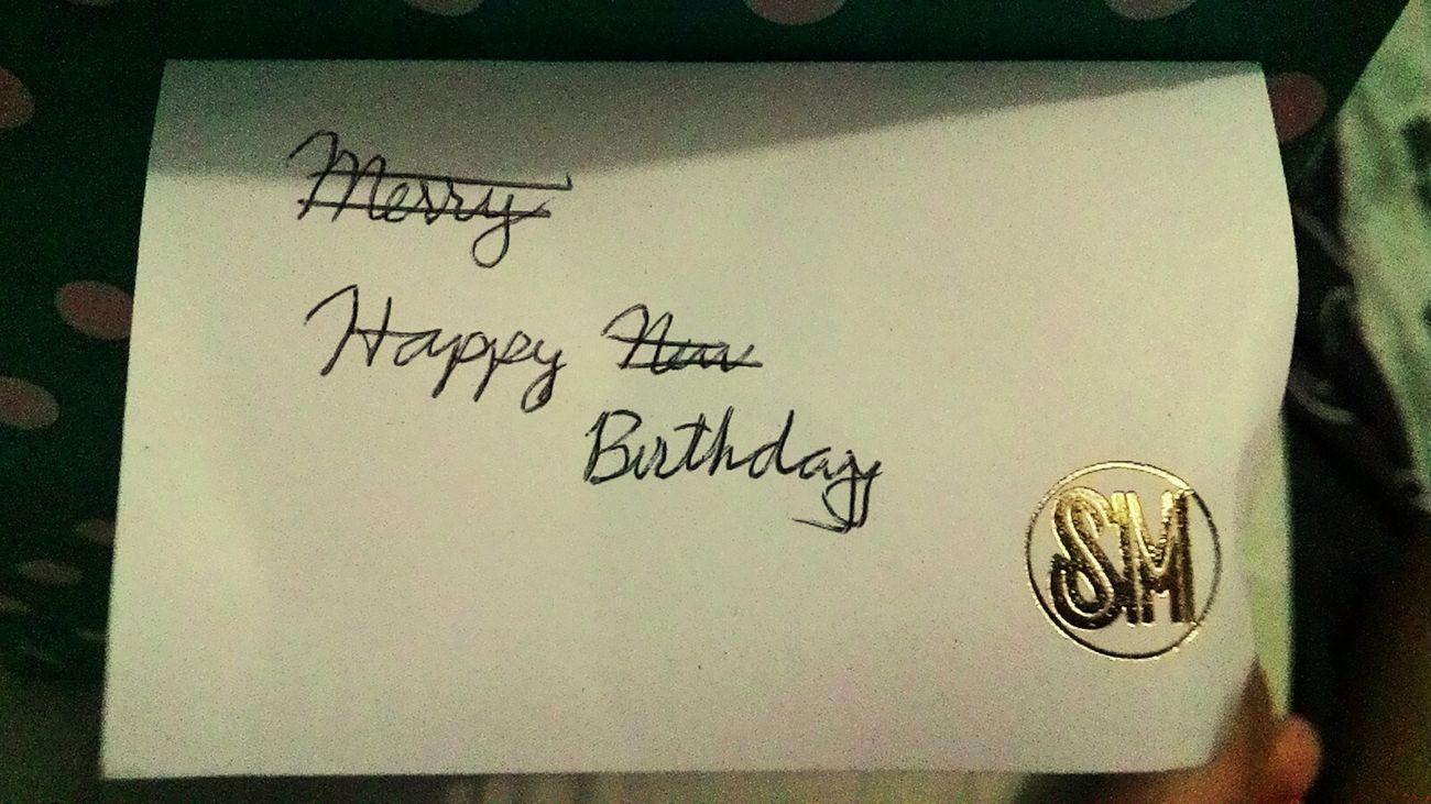 Hahaha. Birthday Happy First Birthday! Lol :)