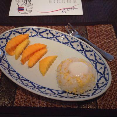 Thailändischer Klebereis mit Kokosmilch und Mango... #tweetupTUT #veganforfit