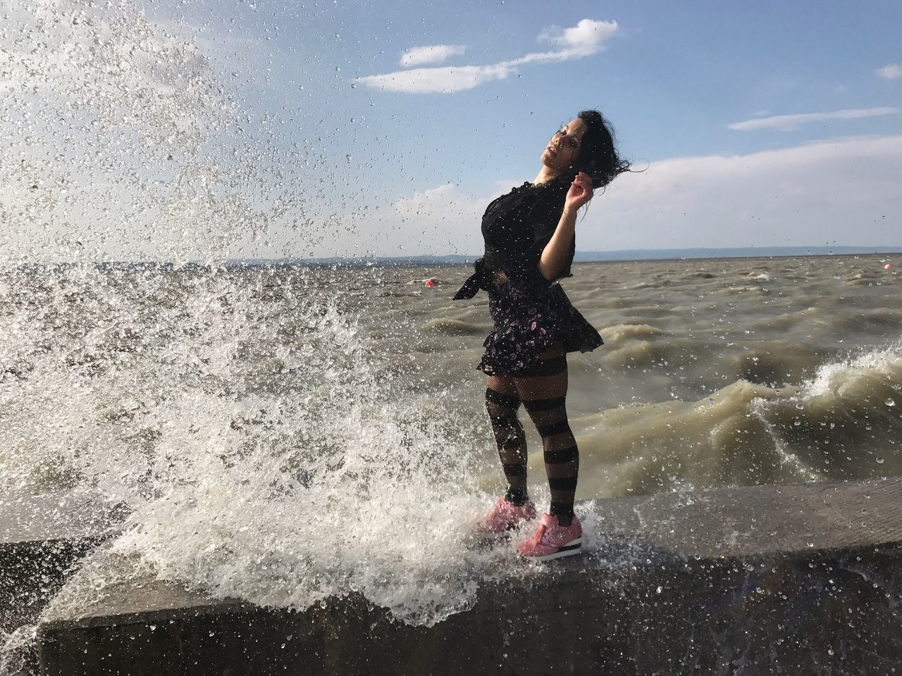 Live For The Story Water Sea Motion Real People Wave Horizon Over Water Splashing Leisure Activity Sky Nature Lifestyles Standing One Person Day Beach Beauty In Nature Outdoors Full Length Cloud - Sky Scenics