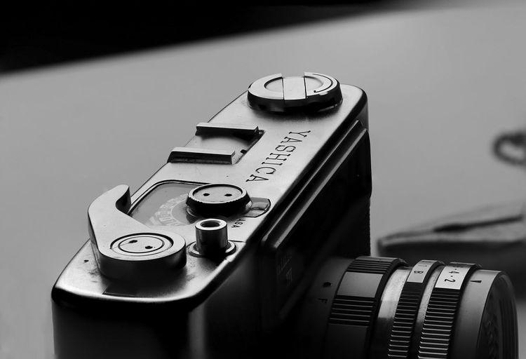 Yashica Film Rangefinder Focus Stacking Black And White