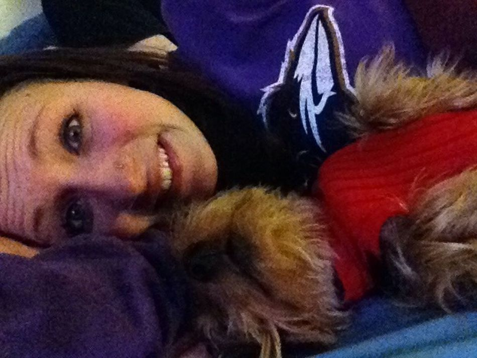 cuddling with peanut