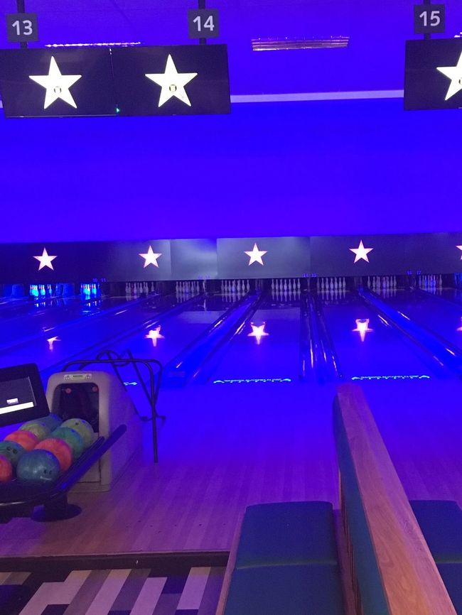 The Color Of Sport Blue Modern No People City Life Multi Colored Bowling Bowling Alley