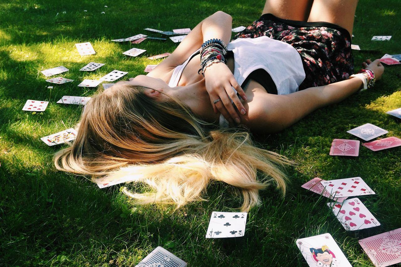 Beautiful stock photos of magic, 14-15 Years, Blond Hair, Bracelet, Cards