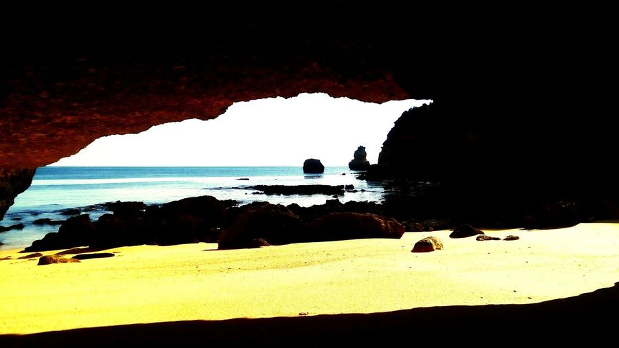 Cave at D. Ana beach Sea Relaxing