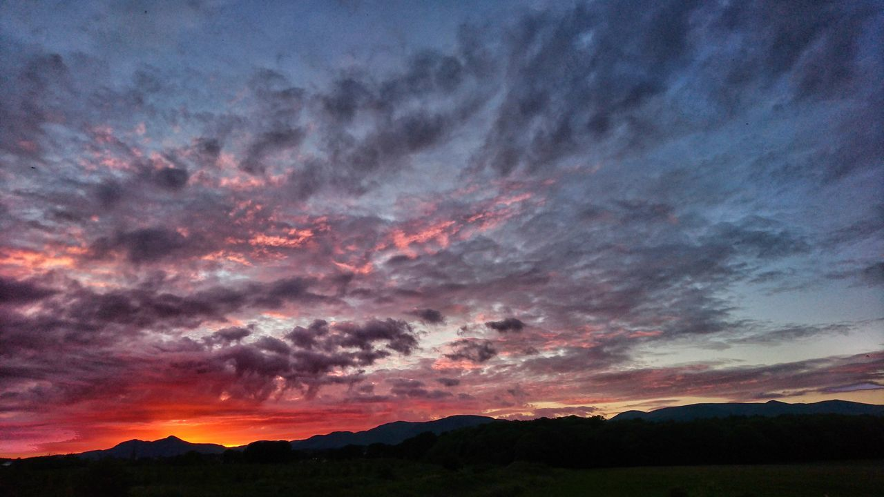 Sunset over the ochil hills. Ochils Dramatic Sky Sunset Landscape Scenics Nature Multi Colored Beauty In Nature Sunset_collection EyeEm Best Shots Sunset Silhouettes Nature Tranquility The Great Outdoors - 2017 EyeEm Awards Silhouette Sunset Lovers EyeEm Nature Lover Mountain Ochil Hills