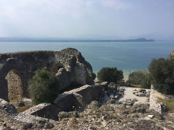 Architecture Beauty In Nature Built Structure Day Garda High Angle View Horizon Over Water Lago Lago Di Garda Lake Garda Lake View Mountain Nature No People Old Ruin Outdoors Rock - Object Scenics Sea Sky Tranquility Tree Water
