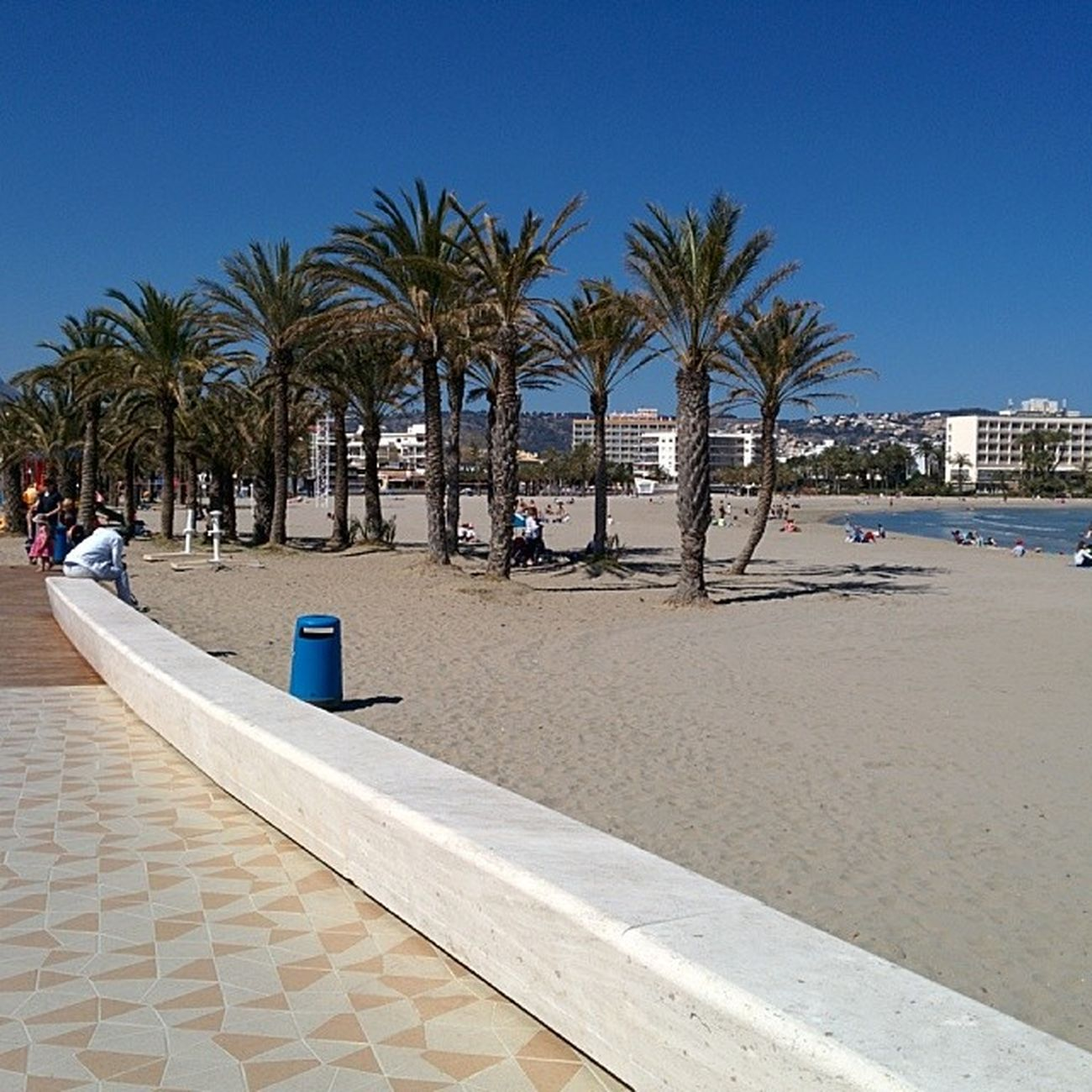 Playa de Javea! Aitoespanja Ranta Playa Beach sand palms palmera palmu
