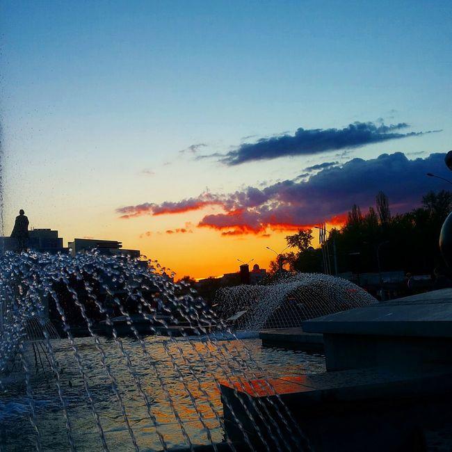 липецк фонтан Закат Lipetsk Fountain Sunset