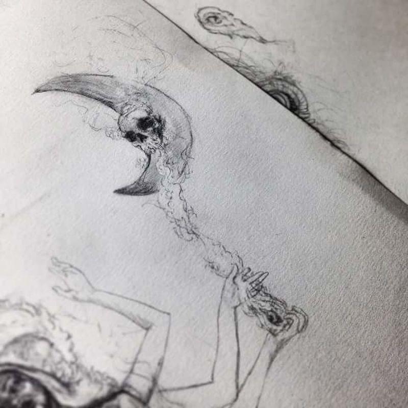 Moon Blackandwhite Matita Skull Matitabiancoenero Disegni: Il Mio Universo! Disegni Disegno Drawing Pencil Drawing Artbyme Luna Macabre Macabre Art