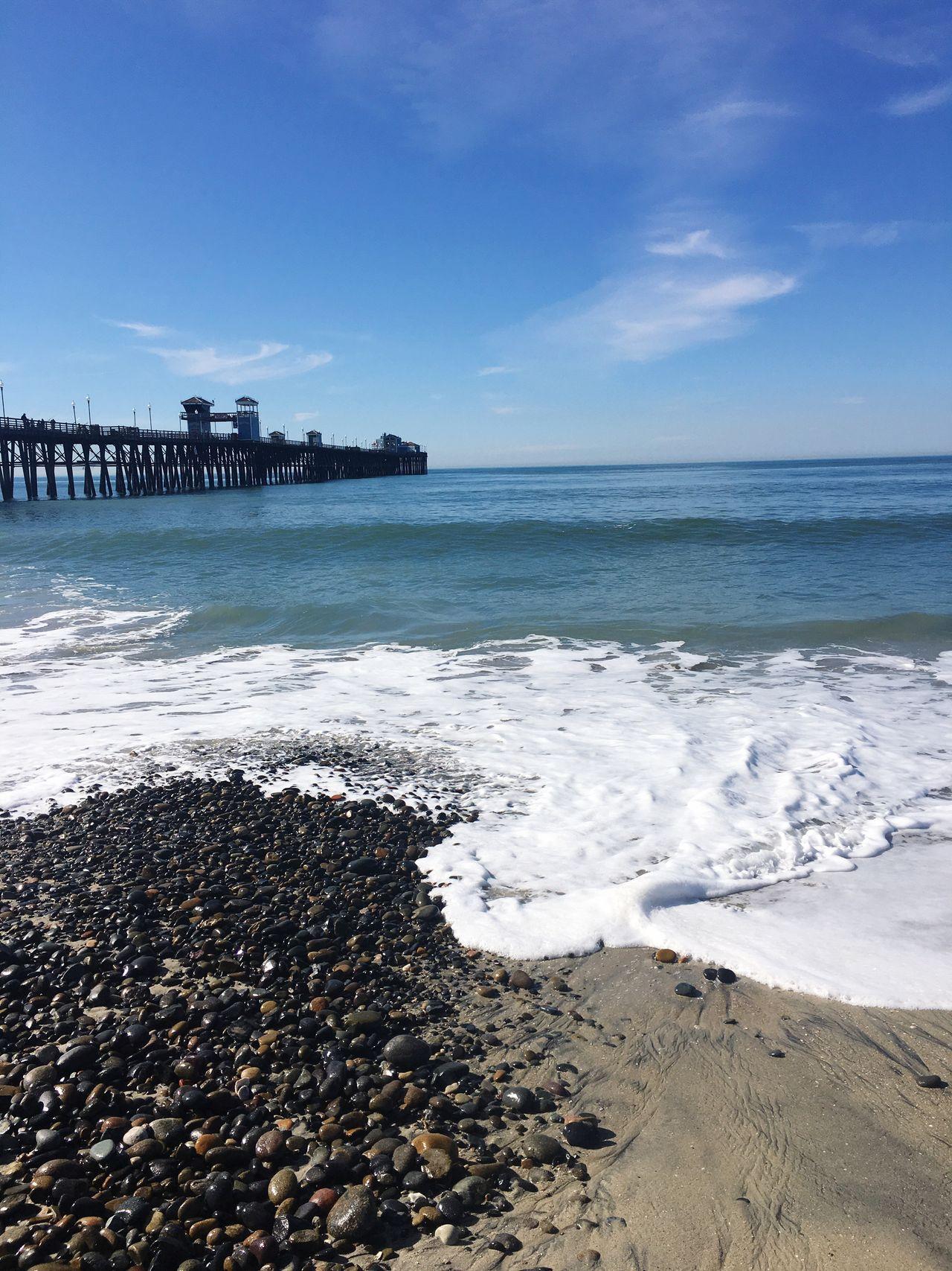 Oceanside Beach Pier Water Sea Sand Beauty In Nature Scenics