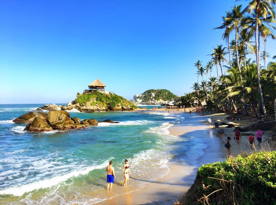 My favourite place. A MUST go in Colombia. Cabo San Juan Tayrona Tayrona Natural Park Colombia Beach Nature Blue Vacations Beauty In Nature Landscape