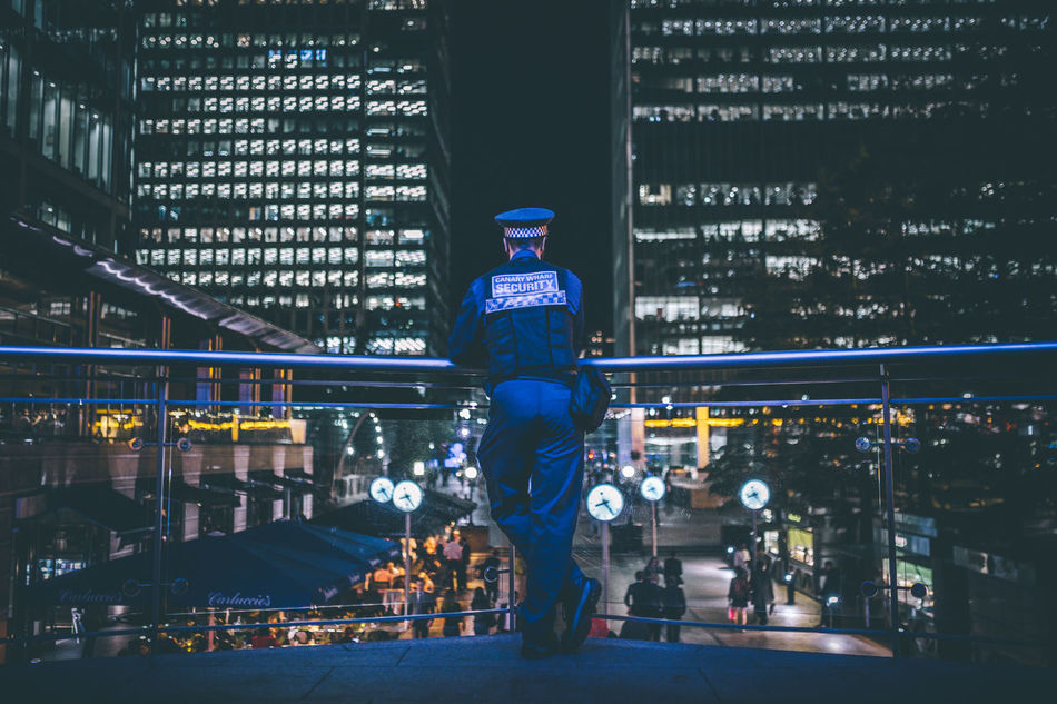 City Night Security Safe Under Control Canary Wharf London Officer EyeEmNewHere