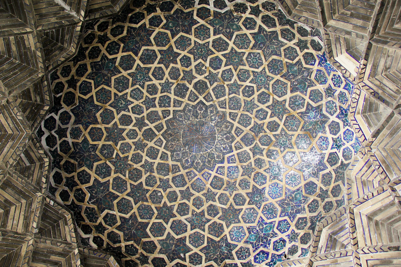 Architecture Built Structure Bukhara Ceiling Close-up Day Dome History Indoors  Islamic Architecture Islamic Art Looking Up Low Angle View Madrassa No People Pattern Silk Road Tourism Travel Destinations Uzbekistan