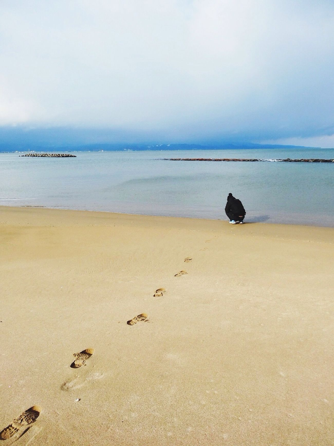 Sea of Japan in Winter is beautiful actually. Nature Sea Seashore Footprints
