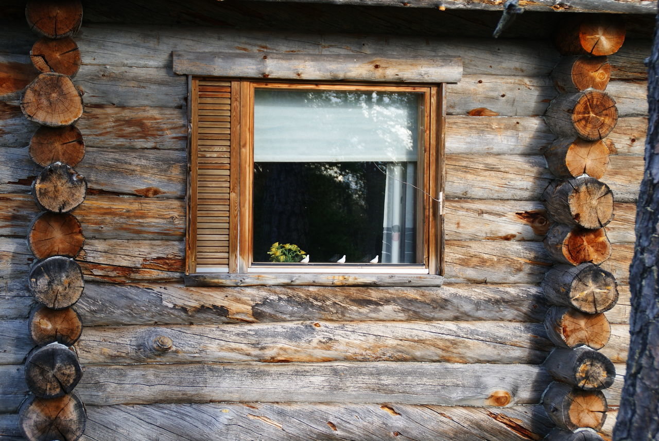 Nature_collection Album Nature Finland Cabaña House t Tronco Long Cabin Window Ventana