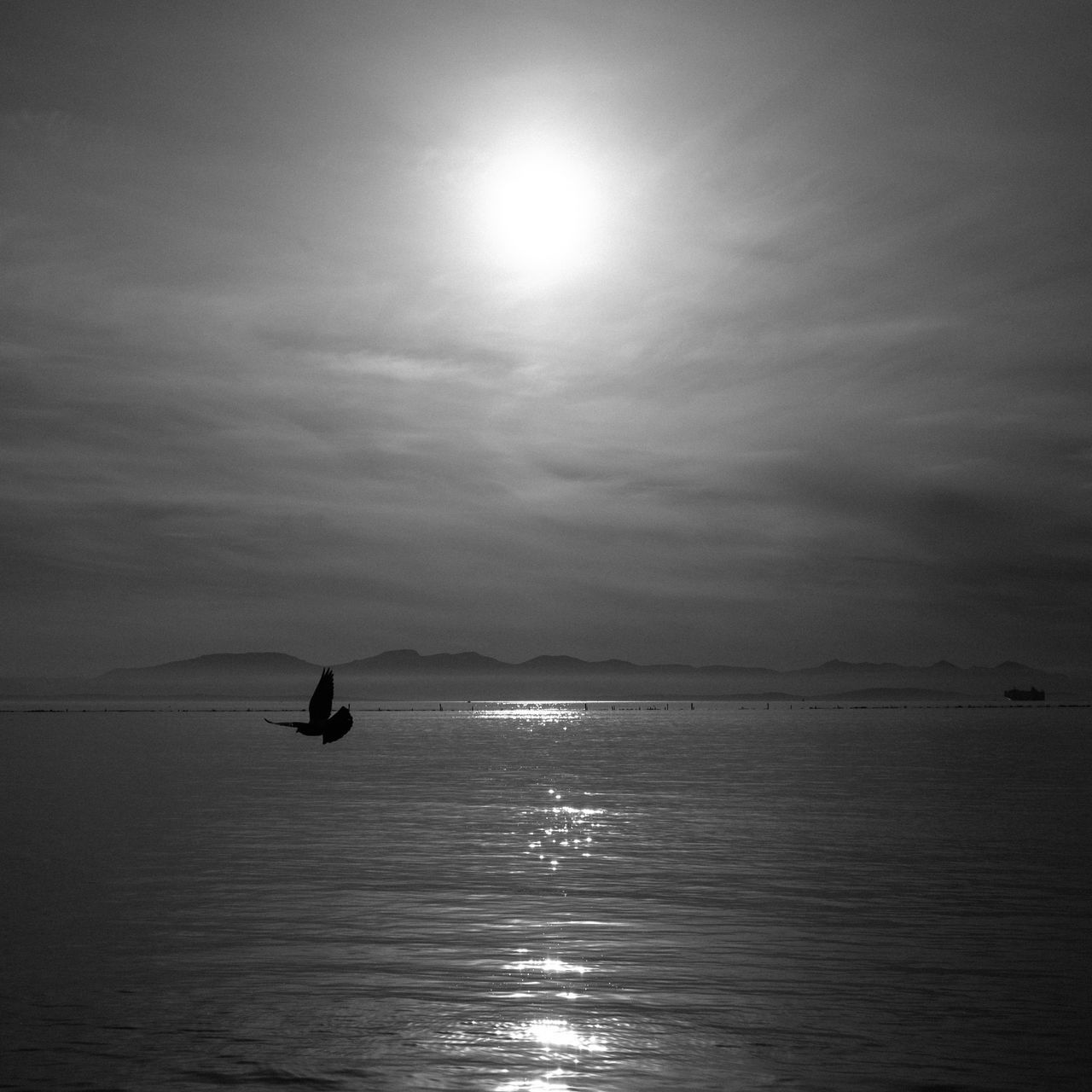 Beauty In Nature Day Horizon Over Water Landscape Mountain Nature Nautical Vessel No People Outdoors Scenics Sea Silhouette Sky Sun Tranquil Scene Tranquility Water Waterfront