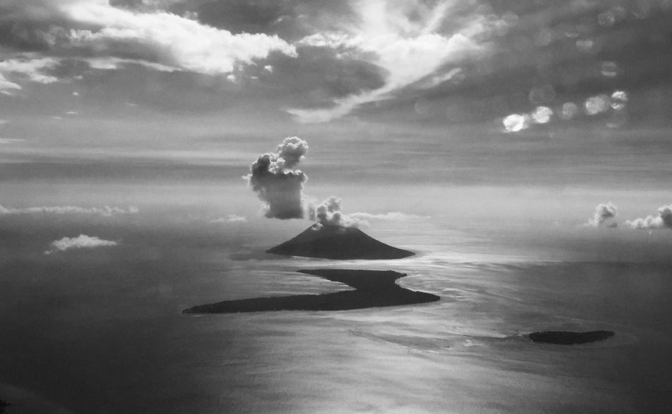 Manado Tua Island | North Sulawesi - Indonesia On The Plane ✈ Travel Photography First Eyeem Photo Black And White Photography