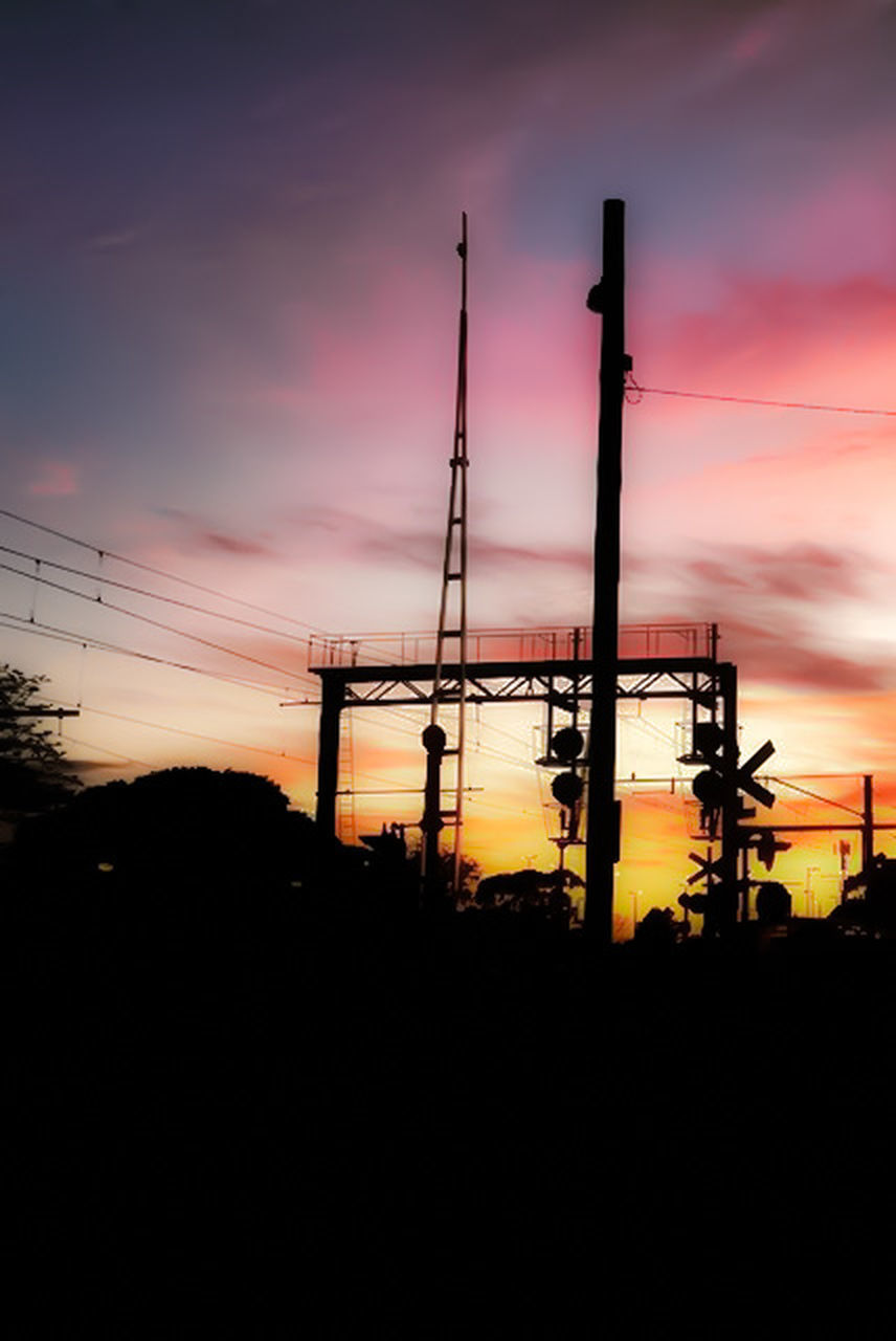 sunset, silhouette, orange color, fuel and power generation, sky, oil industry, dusk, industry, no people, nature, built structure, technology, factory, outdoors, architecture, drilling rig