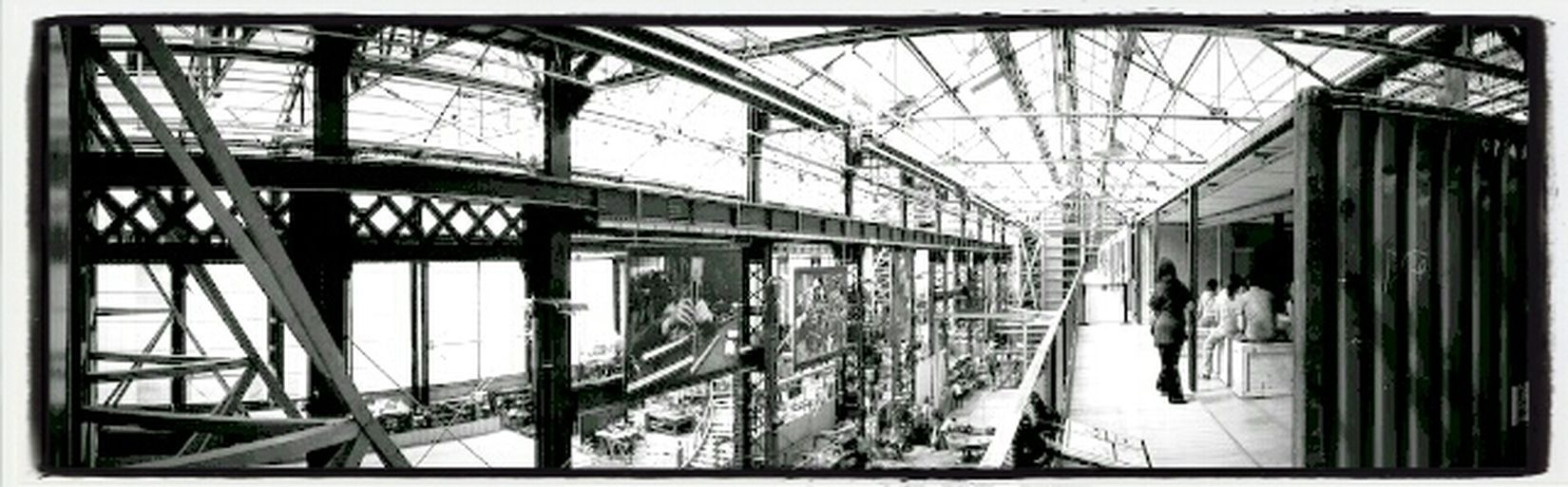 Urban Blackandwhite Panorama Machines De L'Ile
